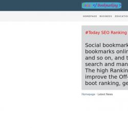 Business Premium Bookmarking to Boot Ranking Today